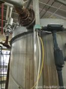 Stainless Steel 300 Gallon Steam Heated Coil Tank