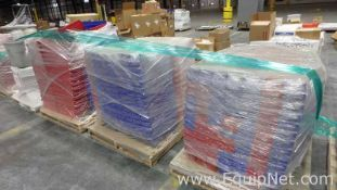 Lot of 5 Pallets Assorted Plastic Stackable Bins