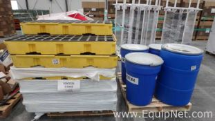 Lot of 2 Pallets With Assorted Spill Containment Workstations and Spill Kits