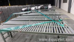 Lot of 13 Gravity Roller Conveyors