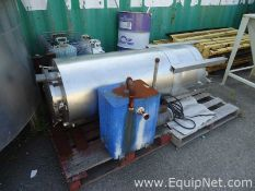 Approx 100 Gallon Stainless Steel Tank on Legs