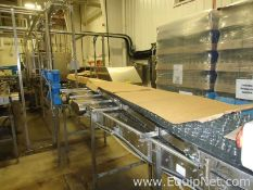 Approx 27 Feet Stainless Steel Tabletop Conveyor Single Filer