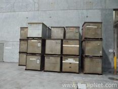 Lot of 7 Stainless Steel 72 CUFT Dry Product Totes