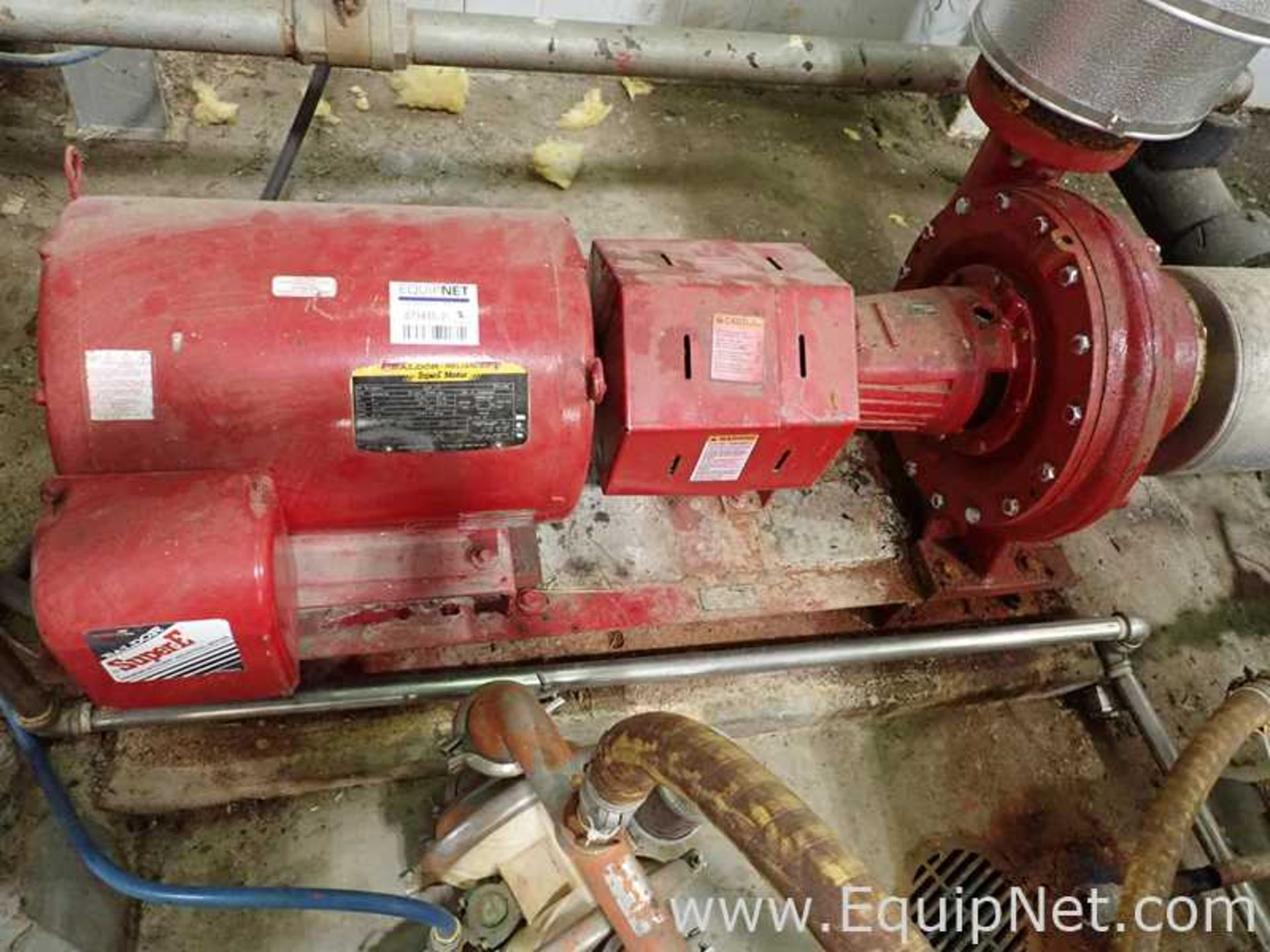 Lot of 2 Bell and Gossett e-1510 25 HP Centrifugal Pumps - Image 7 of 11