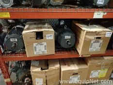 Lot of 9 Unused Electric Motors - 1.0 to 5.0 HP