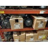 Lot of 9 Unused Electric Motors - 1.0 to 5.0 HP