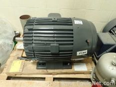 Lot of 1 Unused US Motor 100 HP Electric Motor and 1 Marathon 75 HP Electric Motor