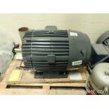 Lot of 1 Unused US Motor 100 HP Electric Motor and 1 Marathon 75 HP Electric Motor