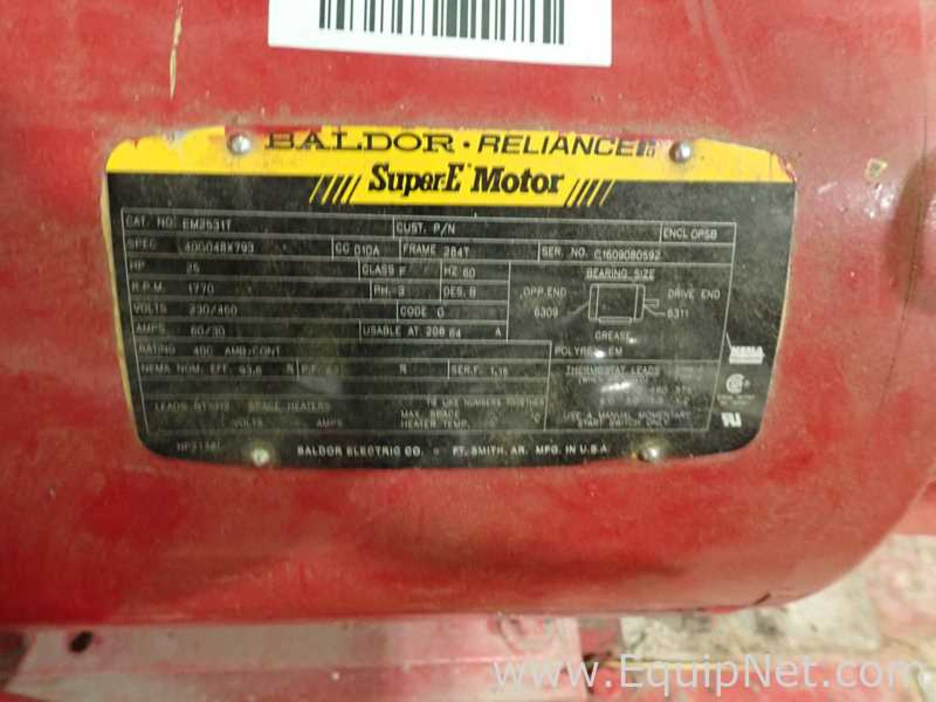Lot of 2 Bell and Gossett e-1510 25 HP Centrifugal Pumps - Image 8 of 11