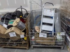 (2) Wire Bins of Industrial