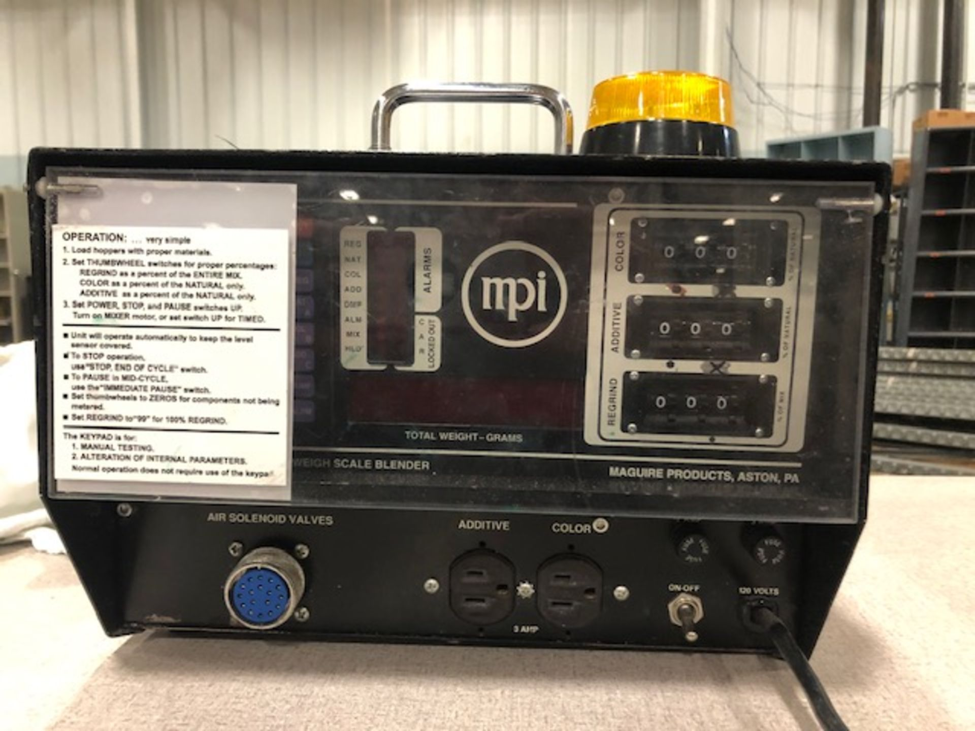 Lot 3 - Maguire W-240RM1 Weigh Feeder Controller