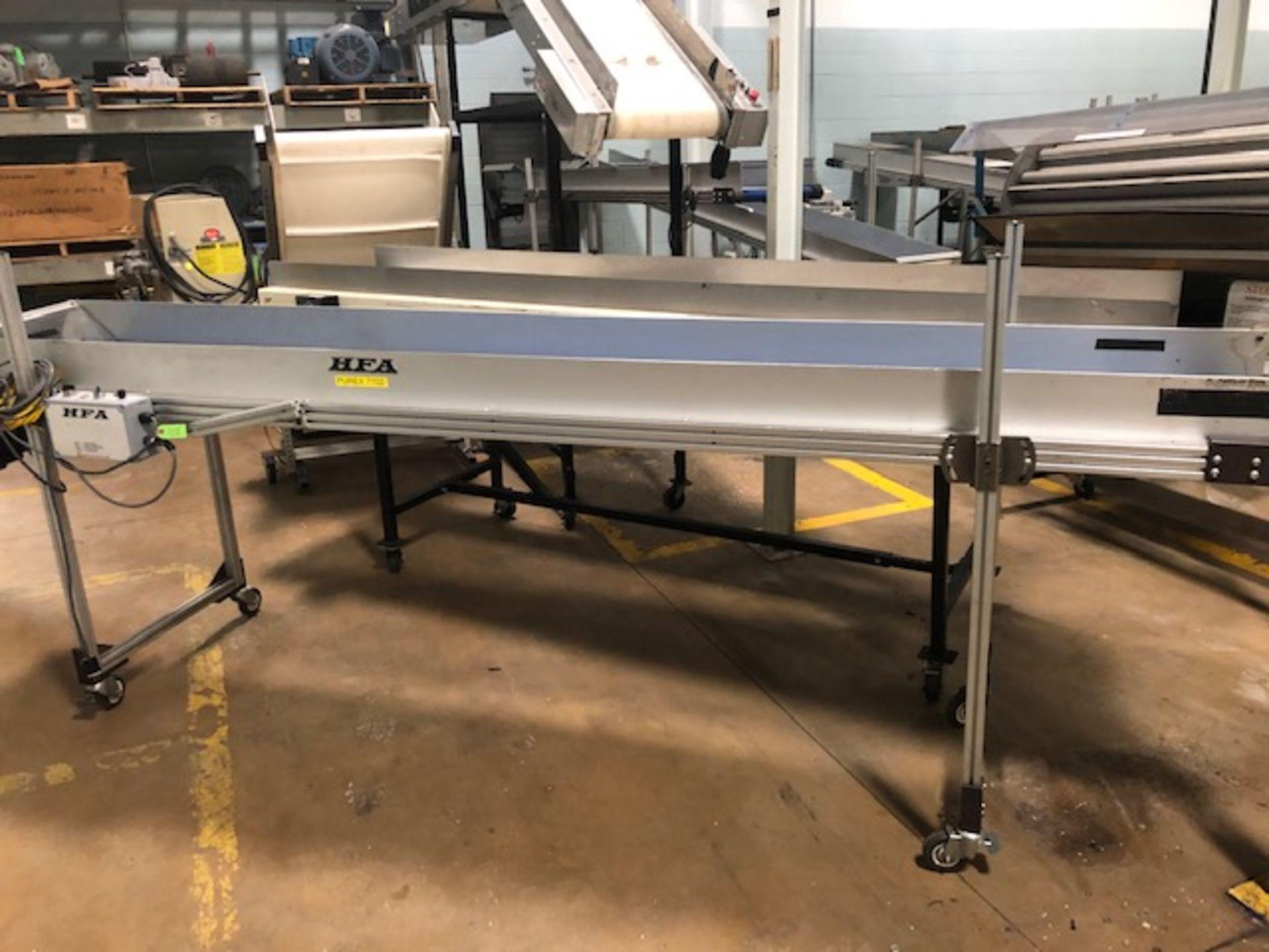 """Lot 18 - HFA 19"""" x 11' Belt Conveyor"""