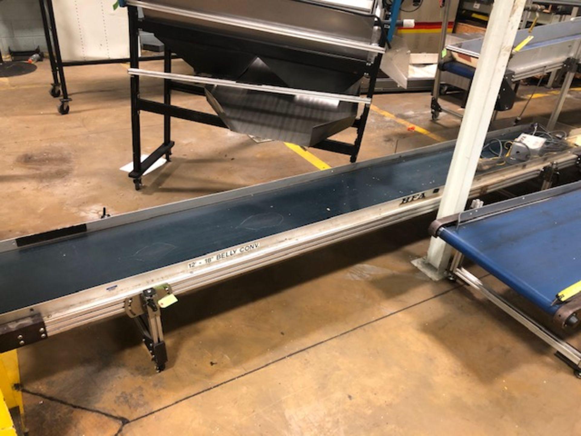 """Lot 24 - HFA 17.5"""" x 12' Belt Conveyor"""