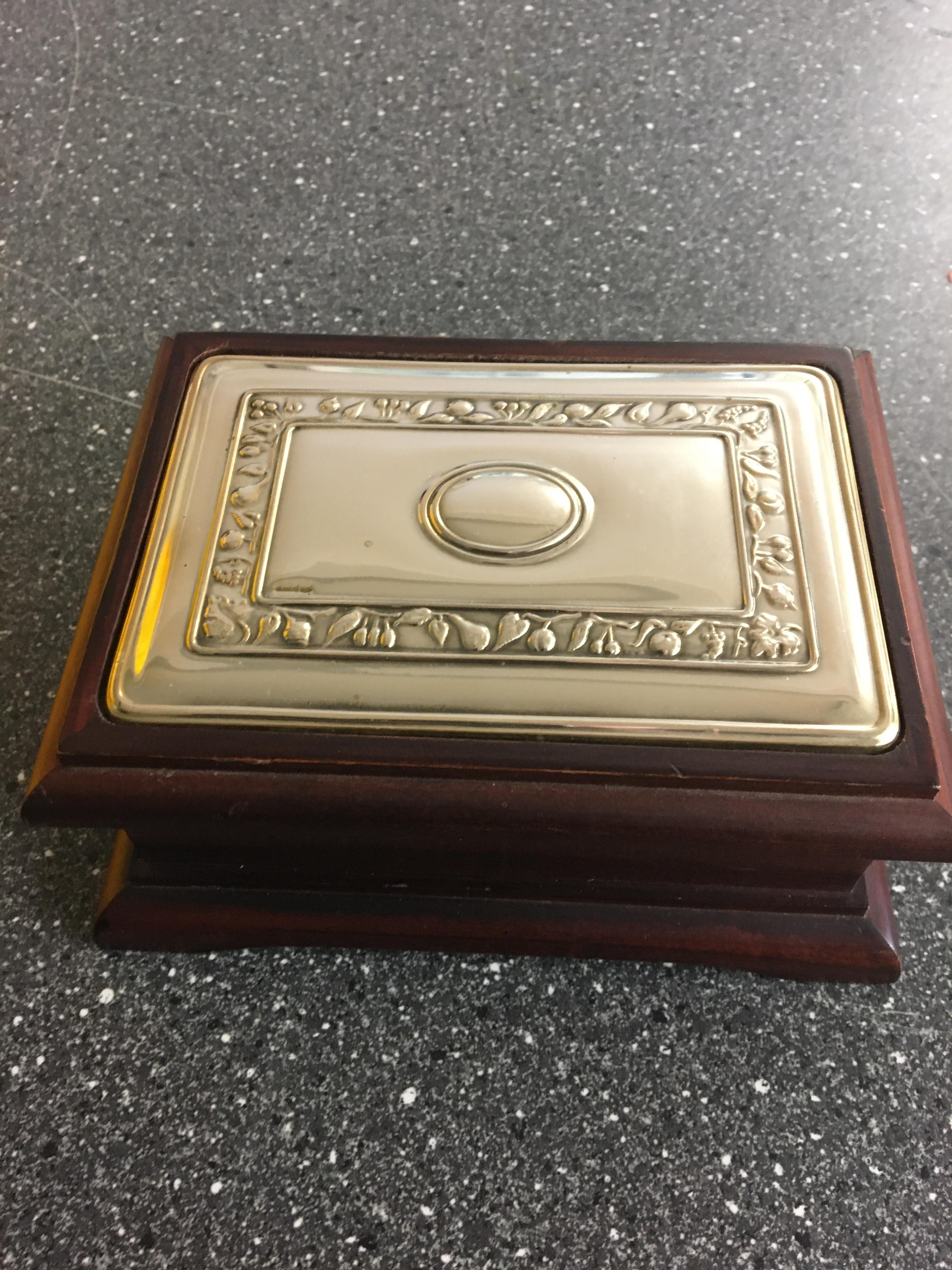 Lot 22 - HM Silver topped wooden box.