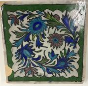 19th/20th Iznik tile with floral pattern, A/F.