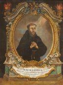 Sanctus Pater Josephus A Cuper, 1663 , Öl auf Leinwand, ca. 26x34cm, gerahmt, Rahmen besch.<