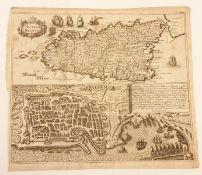 Sizilien , Palermo , 18.Jhd, Kupferstich ,Größe: ca. 38x33cm<b