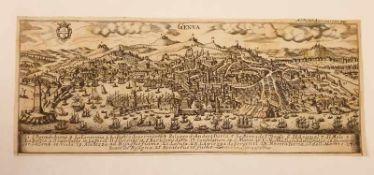 Genua , 1731, Kupferstich, Größe: ca.38x15 cm ,<b