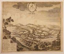 Carlsbad , 1732, Kupferstich ,Größe: ca. 38,5 x 32cm ,<b