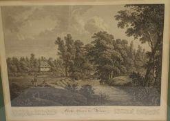 Roux , Jacob Wilhelm Christian (1775-1831) , Göthes Garten bei Weimar, Kupferstich um 1810 ,
