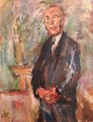 Oskar Kokoska , Farbserigrafie, Blattröße: 84x58,5cm , Porträt von Konrad Adenauer, Original