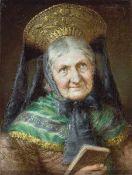 Eugen Lingenfelder (1862-1909), war Meisterschüler von Franz von Defregger, signiert re. oben E.