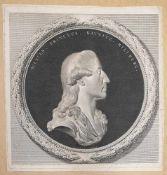 Kaunitz-Rietberg, Wenzel Anton Fürst von Wences.Princeps.Kaunitz, Reliefporträt im Profil nach recht