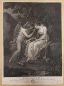 Amor und Psyche, Angelika Kaufmann , L. Buchhorn 1804, Radierung, Größe: 42x58,5cm ,teilsfleckig,