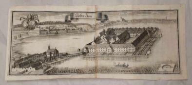 Kloster Seon ,Kupferstich , 18.19. Jahrhundert. 72x30,5cm