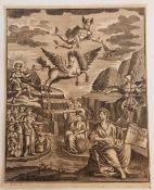 Gabriel Uhlich (1682-1741), Historie der Gelährheit ,Kupferstich , 18. Jahrhundert, Größe: 15,5 x
