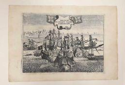 PRESA DI CINQUE VASCELLI TURCHESGHI , H.V.I. , 18. Jahrhundert, Größe:ca. 34,5x24cm,