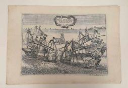 Presa Duna Galea Barbaresca , H.V.I. ,18.Jahrhundert, ca. 34x23,5cm,