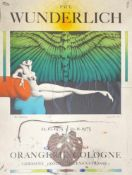 Ausstellungsplakat, Paul Wunderlich , Orangerie Köln 1975, Größe: 58x77cm