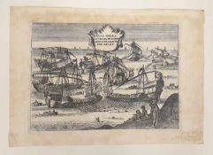 PRESA DELLA CAPITANA DI BISERTA ASSISTITA DA ALTRI TRE GALEE, H.V.S. ,18.Jahrhundert, Größe: 33x23,