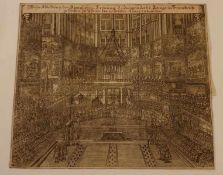 Wahre Abbildung der königlichen Krönung Ludwig des XV. Königs in Frankreich geschehen zu Rheims