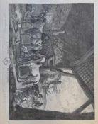 Jean Moyreau nach Phillip Wouwerman, L´ECURIE FLAMANDE, dat. 1755 , Kupferstich , Größe