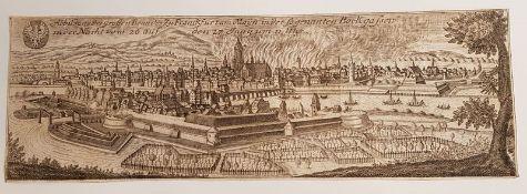Abbildung des großen Brandes zu Frankfurt am Mayn in der sogenannten Bockgassen in der Nacht vom 26.