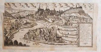 Baden Argoice , Kupferstich 18. Jahrhundert , Größe: 40,5 x 20cm , links oben Fehlstelle