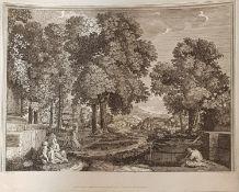 Nicolas Poussin ( 1594 -1665 ) nach, KupferstichLandschaft mit mehrer