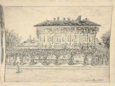 Nagyszeben , 1887 , Bleistiftzeichnung auf Papier, Größe: 30x23cm,