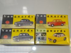 A group of VANGUARDS - to include ROVER P4, FORD 100E, TRIUMPH HERALD and TRIIUMPH DOLOMITE SPRINT