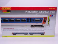 OO Gauge: A HORNBY R2893 Class 466 Networker Electric Multiple Unit in NSE Livery - VG/E in VG box