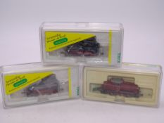 N Gauge: A group of MINITRIX digital fitted German Outline locomotives comprising: A 12624 V60