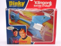 A DINKY 357 KLINGON BATTLE CRUISER - STAR TREK - E - Appears unused in G box, slight crushing