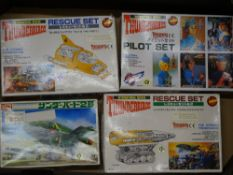 A group of vintage plastic model kits by IMAI comprising: THUNDERBIRDS 2, THUNDERBIRDS 4, THE MOLE