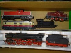 HO Gauge: A mixed group of European Outline steam, diesel and electric locomotives by various