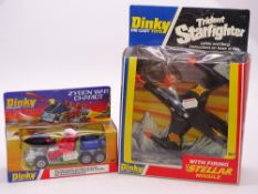 A pair of boxed DINKY toys to include a 361 ZYGON WAR CHARIOT and a 362 TRIDENT STARFIGHTER - E