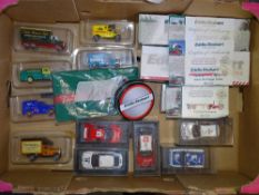 A tray of Diecast collectables by ATLAS and others - to include EDDIE STOBART and Rally Car examples