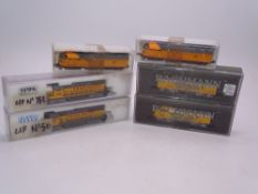 N Gauge: American Outline: A group of Diesel locomotives by BACHMANN, KATO, ATLAS and others - All
