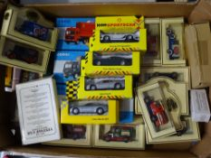 A tray of assorted diecast cars and lorries by CORGI, LLEDO, DAYS GONE etc - VG in G/VG boxes -